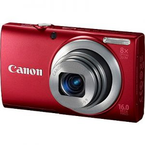 camera canon a4000-vermelha